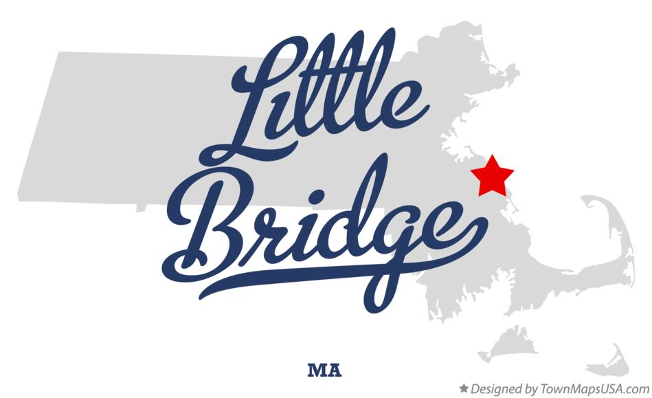 Map of Little Bridge Massachusetts MA
