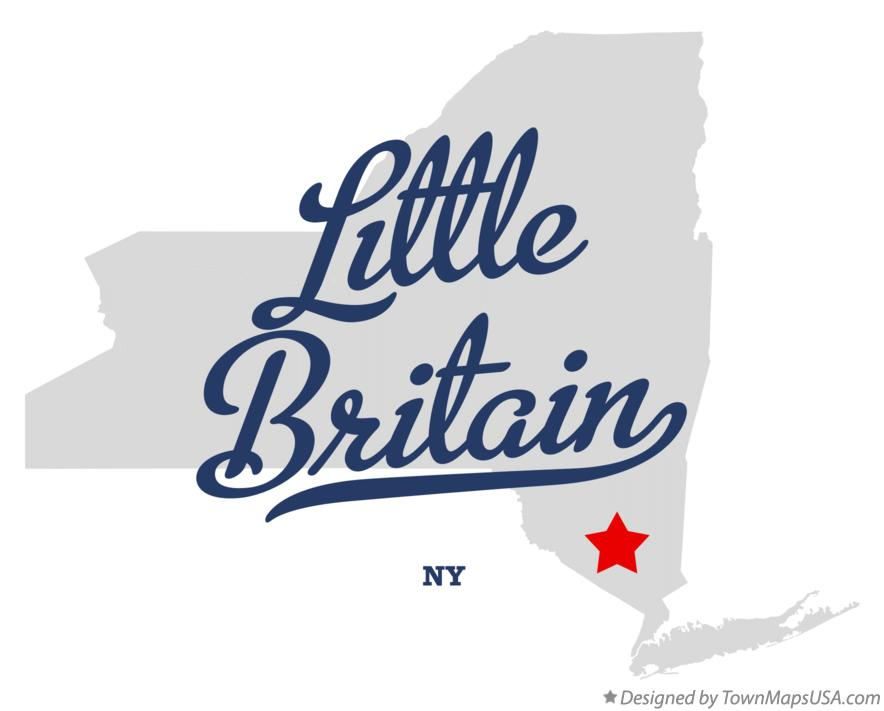 Map of Little Britain New York NY