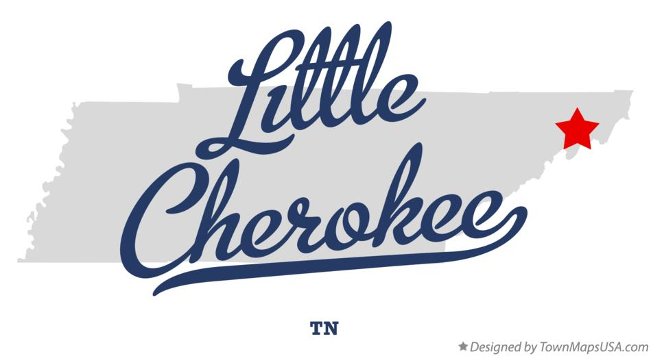 Map of Little Cherokee Tennessee TN