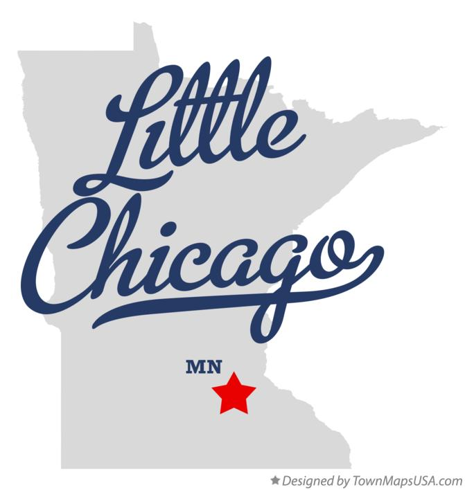 Map of Little Chicago Minnesota MN