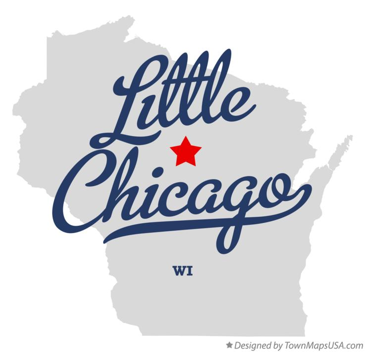 Map of Little Chicago Wisconsin WI