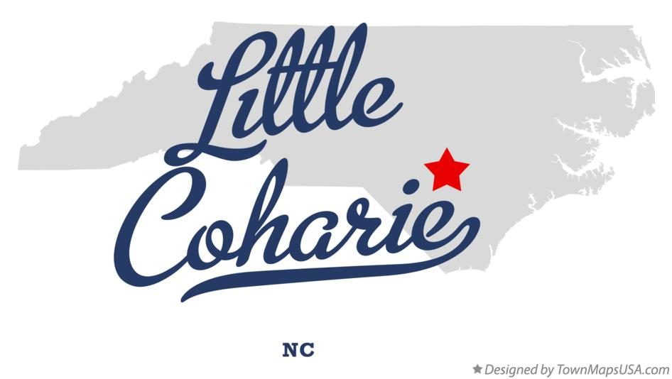 Map of Little Coharie North Carolina NC