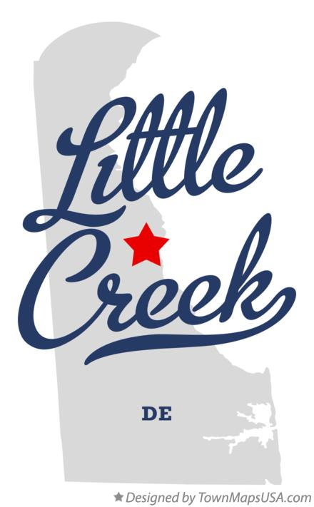 Map of Little Creek Delaware DE