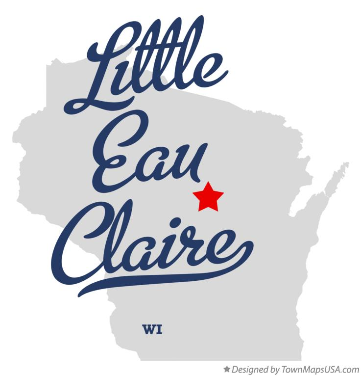 Map of Little Eau Claire Wisconsin WI