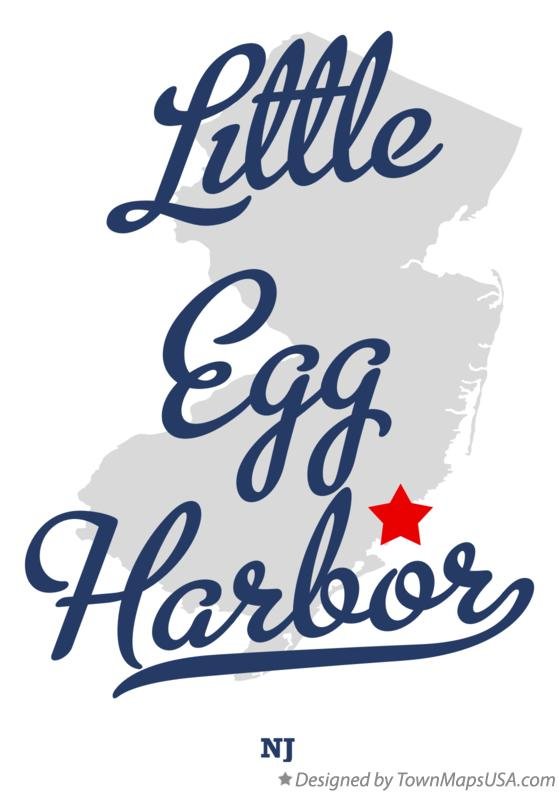 Map of Little Egg Harbor New Jersey NJ