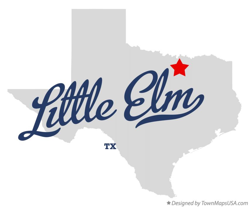 Map of Little Elm Texas TX