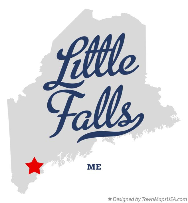 Map of Little Falls Maine ME