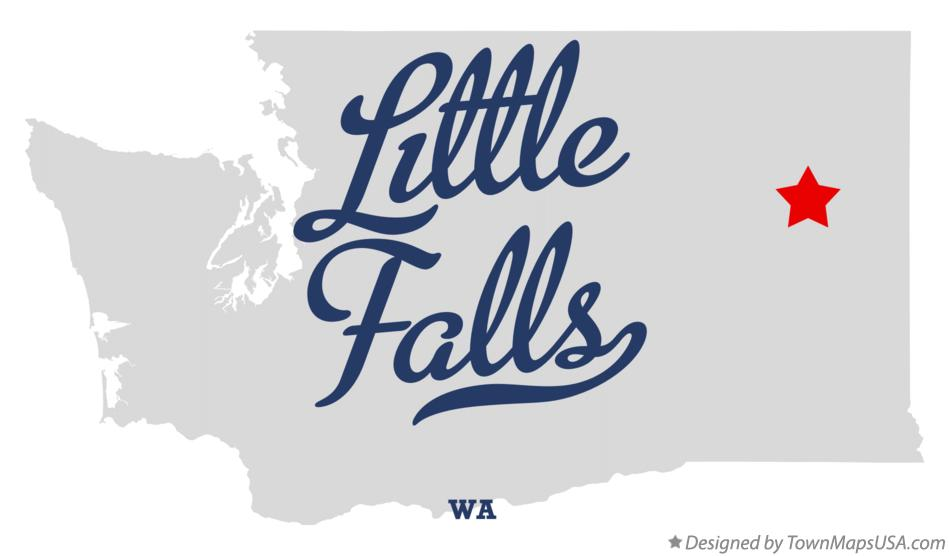 Map of Little Falls Washington WA