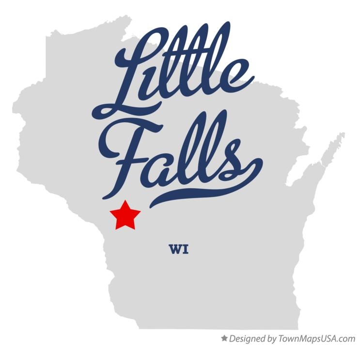 Map of Little Falls Wisconsin WI