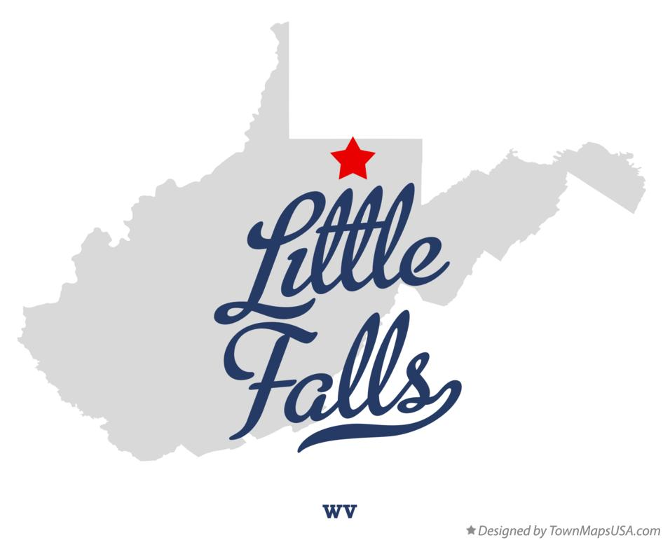 Map of Little Falls West Virginia WV