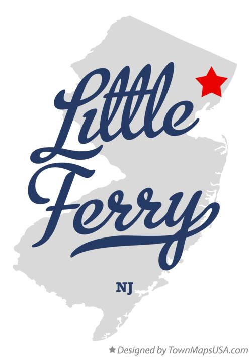 Map of Little Ferry New Jersey NJ