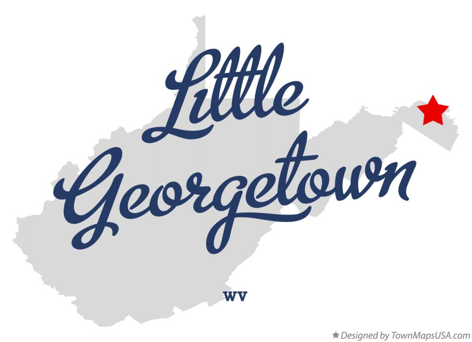 Map of Little Georgetown West Virginia WV