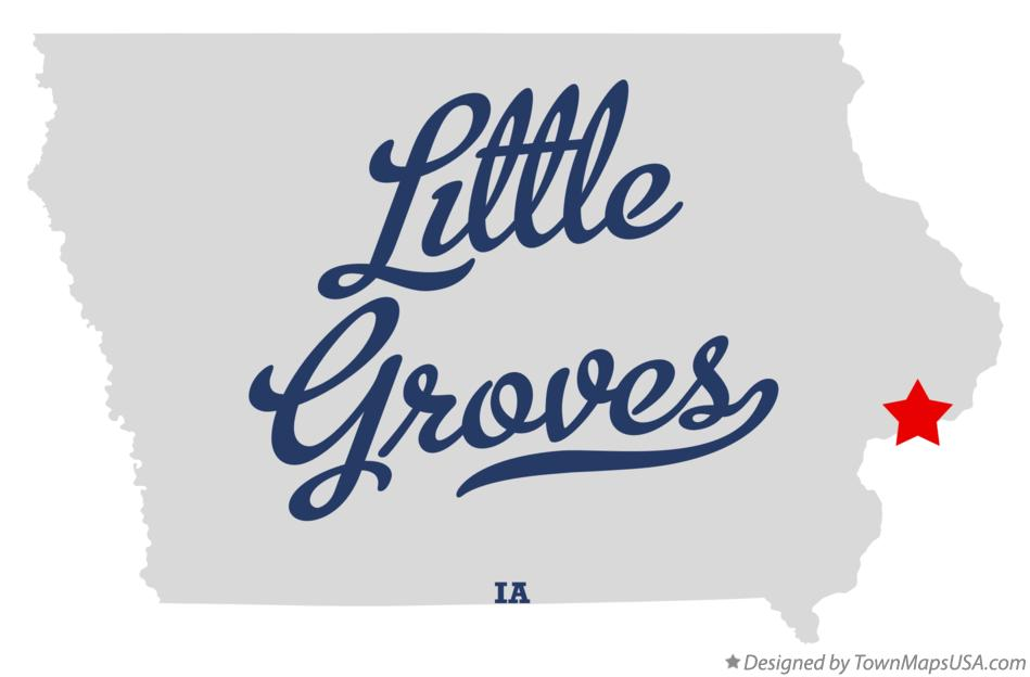 Map of Little Groves Iowa IA