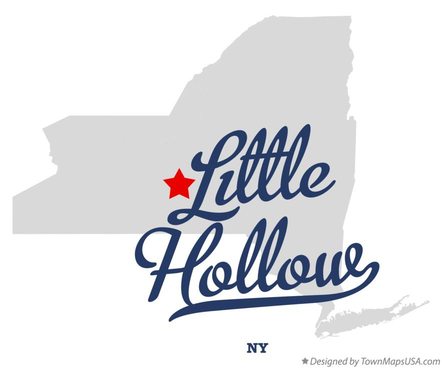 Map of Little Hollow New York NY