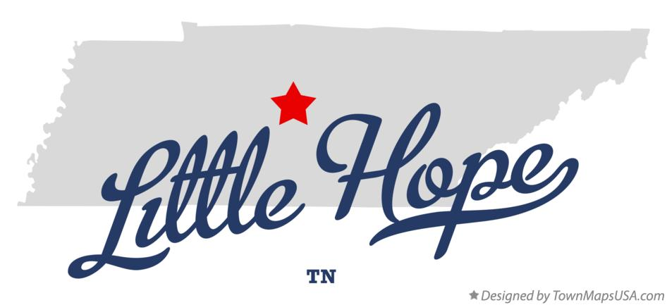 Map of Little Hope Tennessee TN