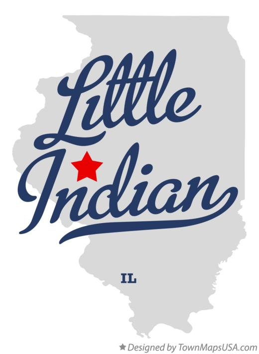 Map of Little Indian Illinois IL