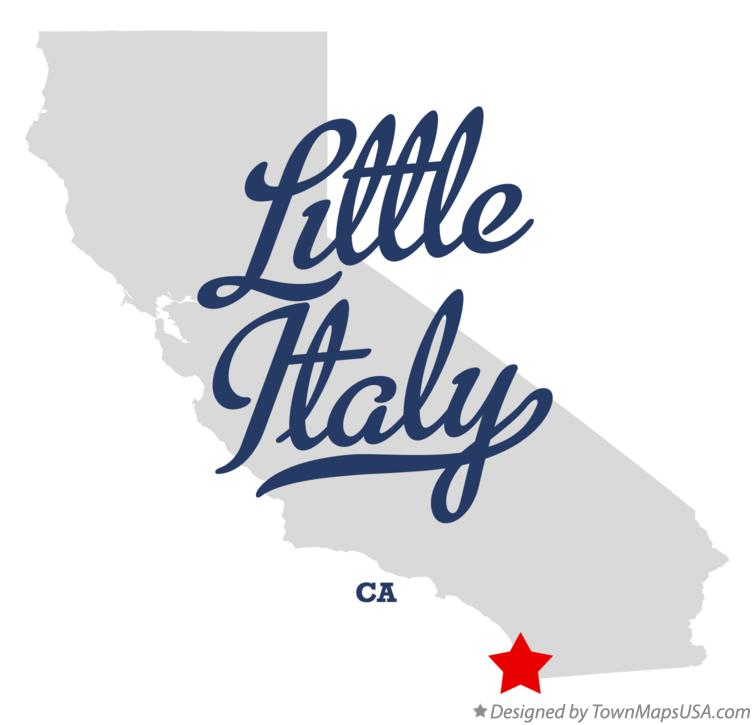 Map of Little Italy California CA