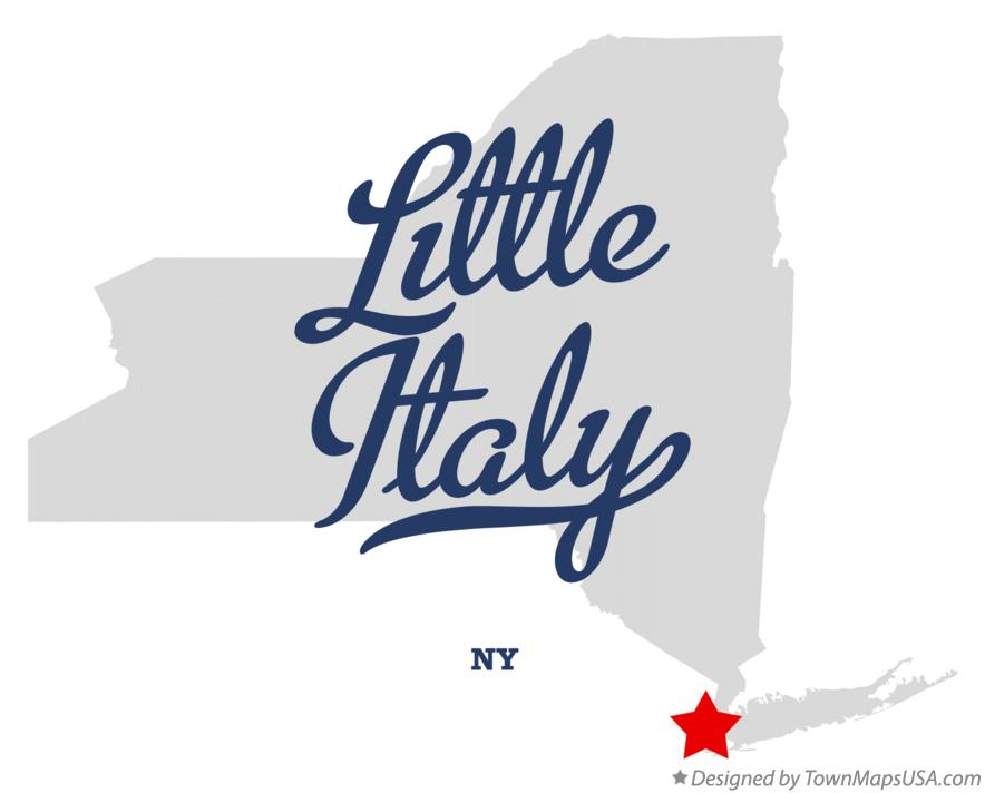 Map of Little Italy New York NY