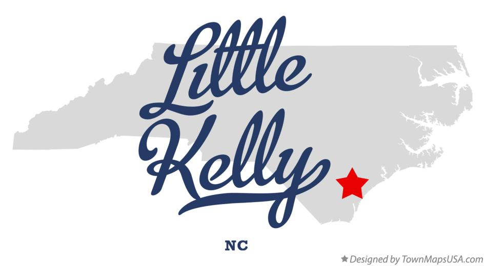 Map of Little Kelly North Carolina NC