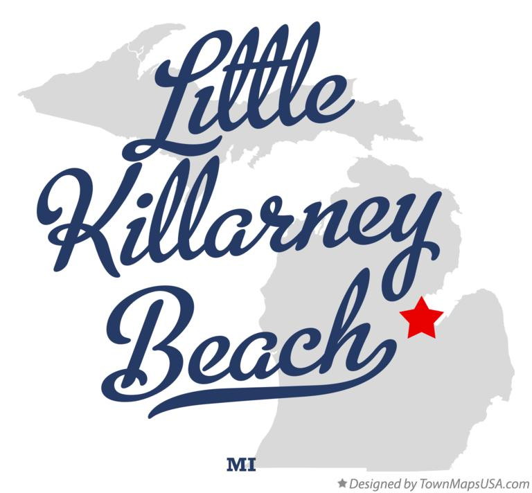 Map of Little Killarney Beach Michigan MI
