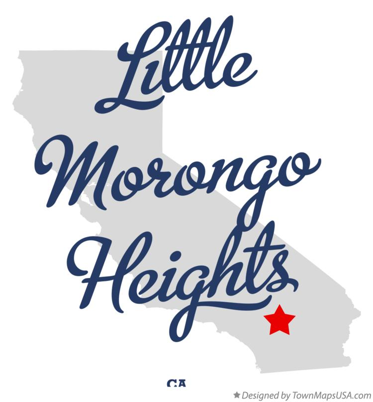 Map of Little Morongo Heights California CA