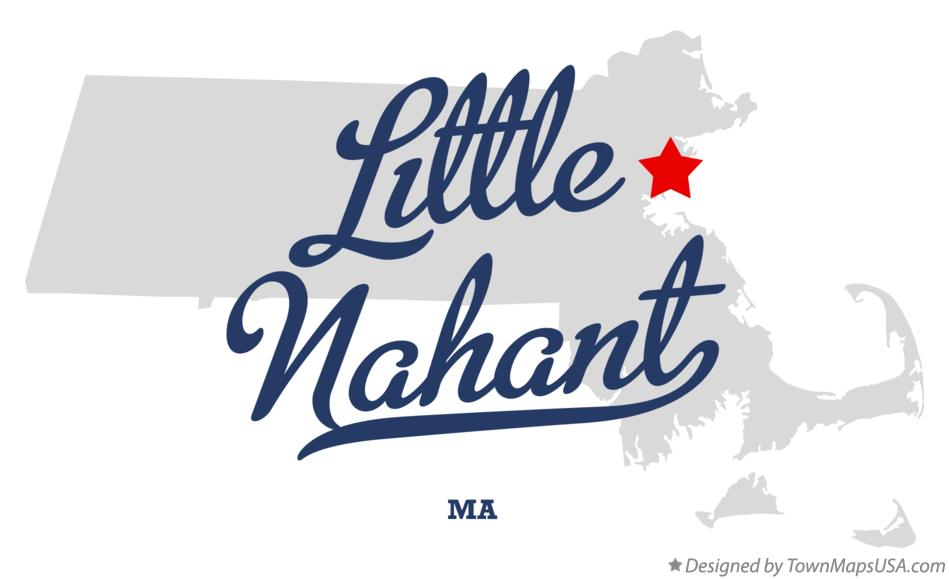 Map of Little Nahant Massachusetts MA