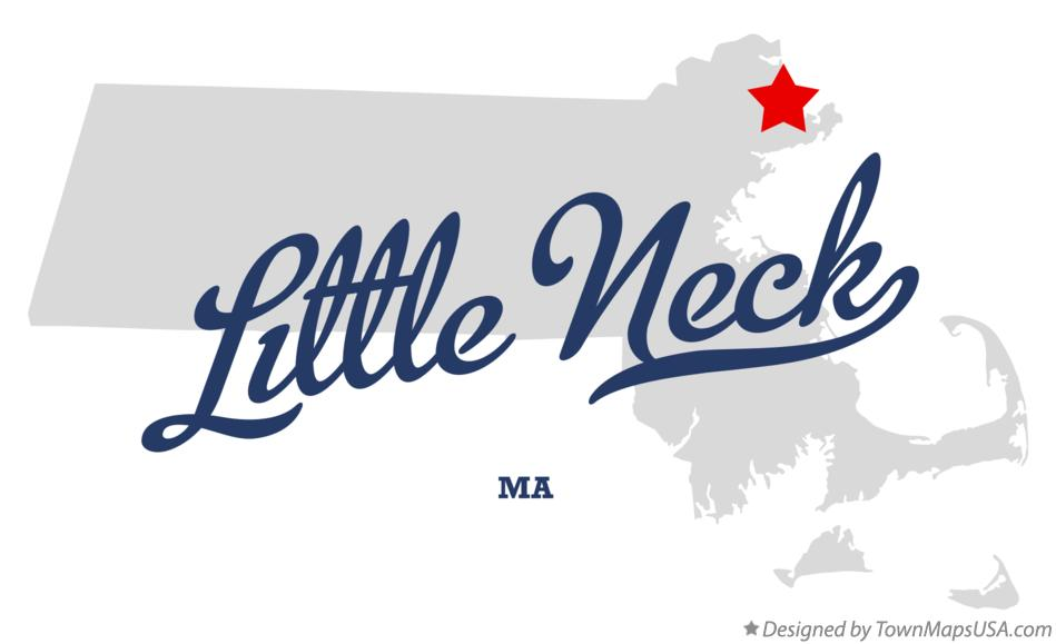 Map of Little Neck Massachusetts MA