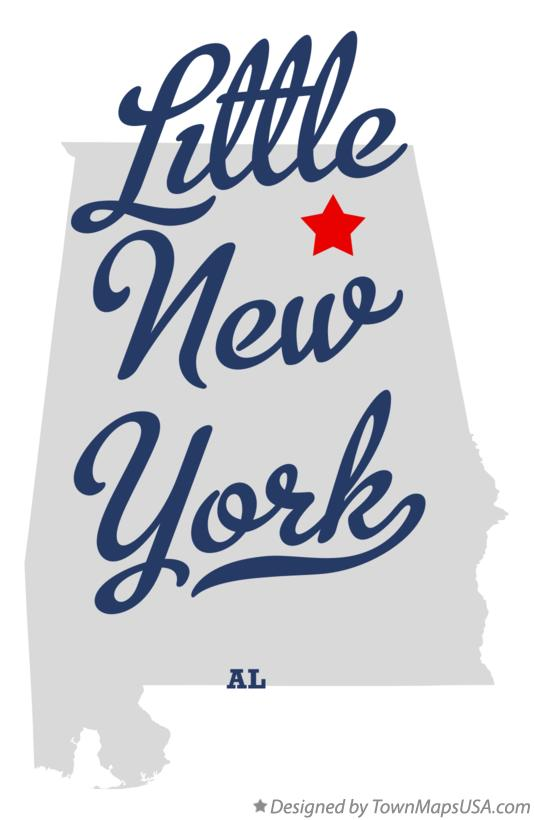 Map of Little New York Alabama AL