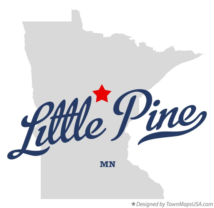 Map of Little Pine Minnesota MN