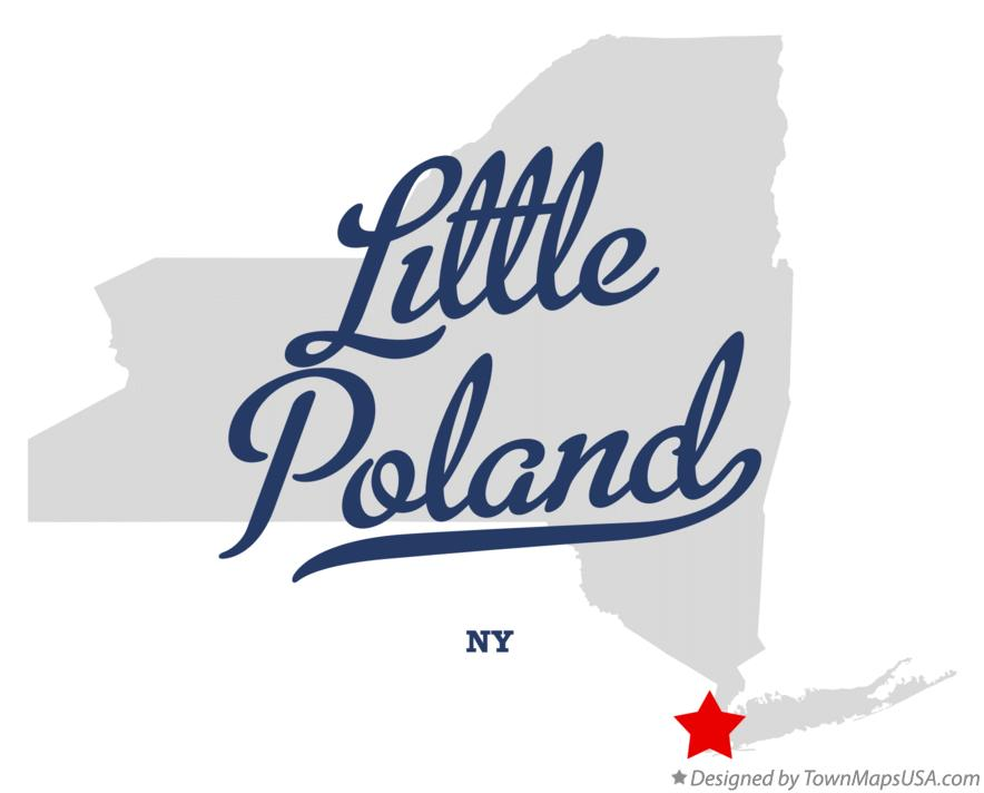 Map of Little Poland New York NY