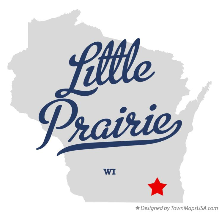 Map of Little Prairie Wisconsin WI