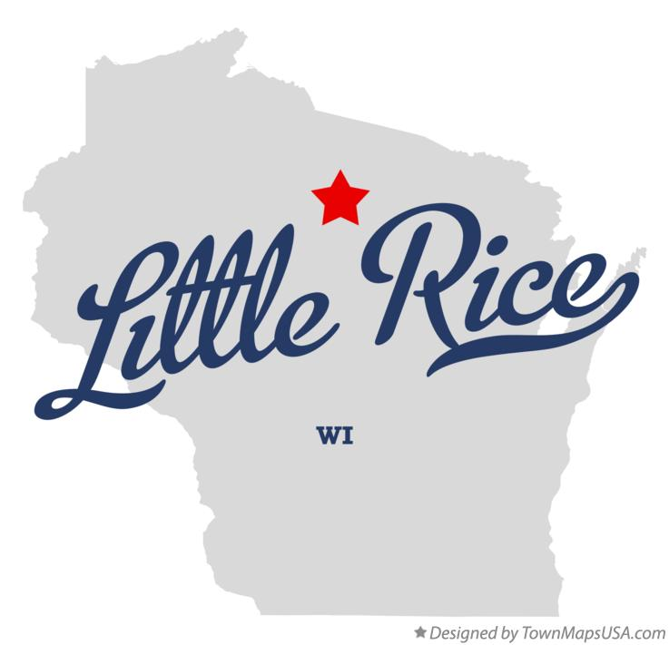 Map of Little Rice Wisconsin WI