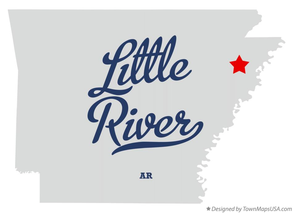 Map of Little River Arkansas AR