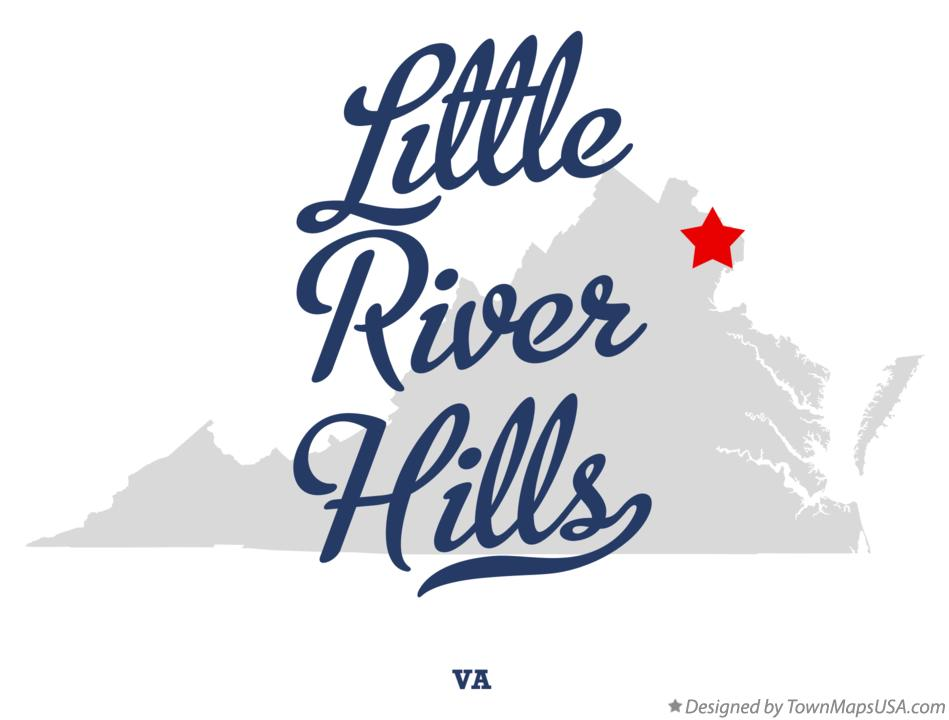 Map of Little River Hills Virginia VA