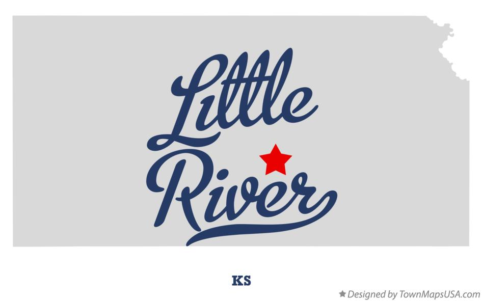 Map of Little River Kansas KS