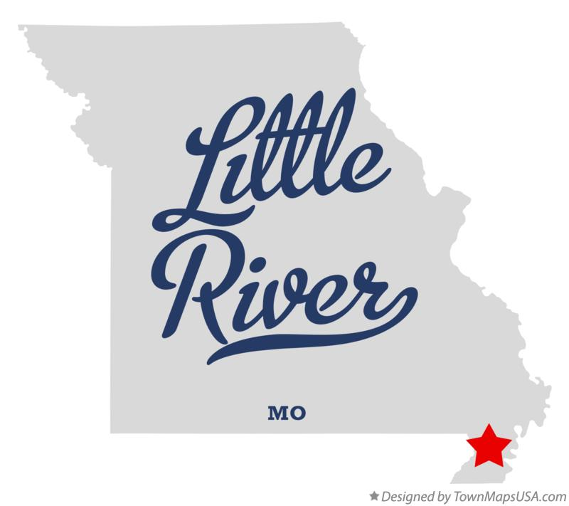 Map of Little River Missouri MO