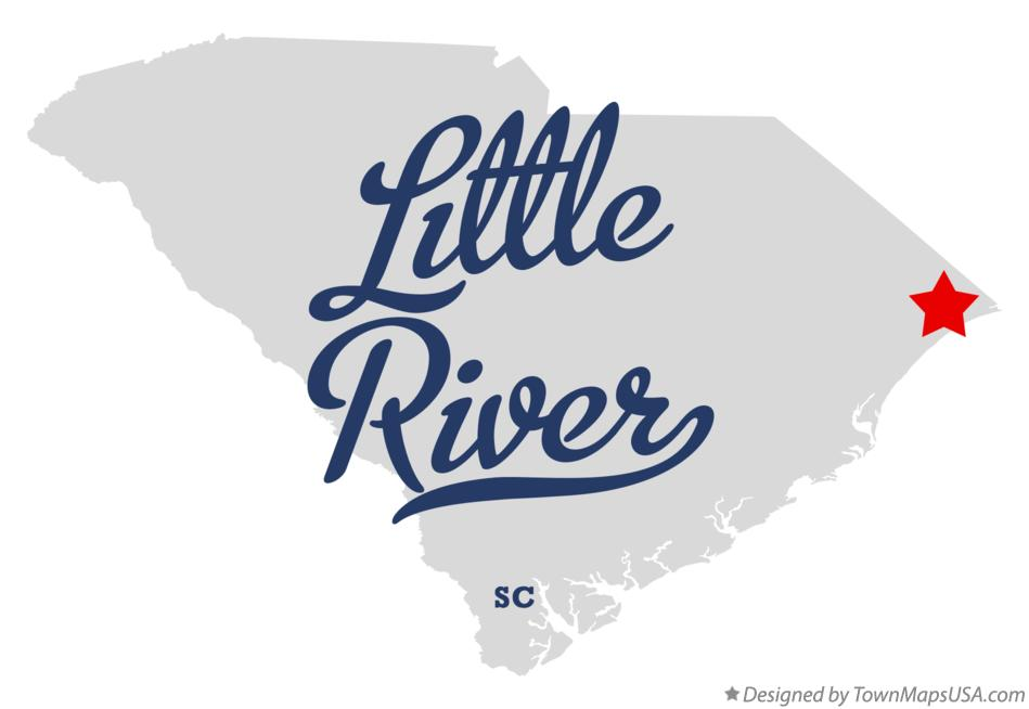 Map of Little River South Carolina SC