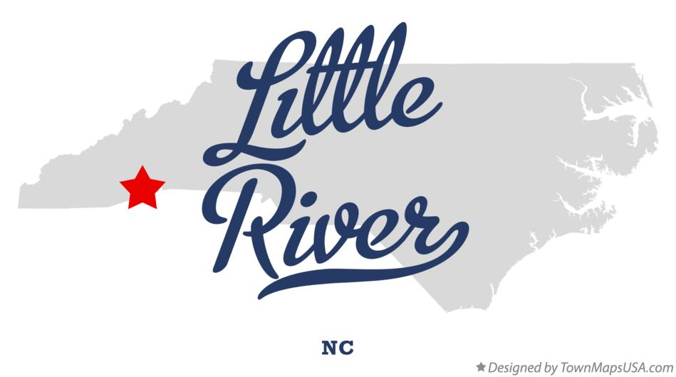 Map of Little River North Carolina NC