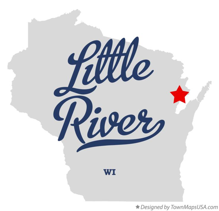 Map of Little River Wisconsin WI