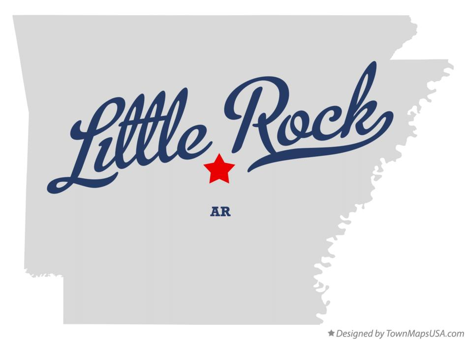 Map of Little Rock, AR, Arkansas