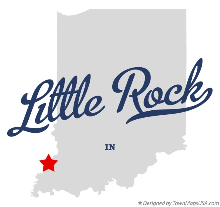Map of Little Rock Indiana IN