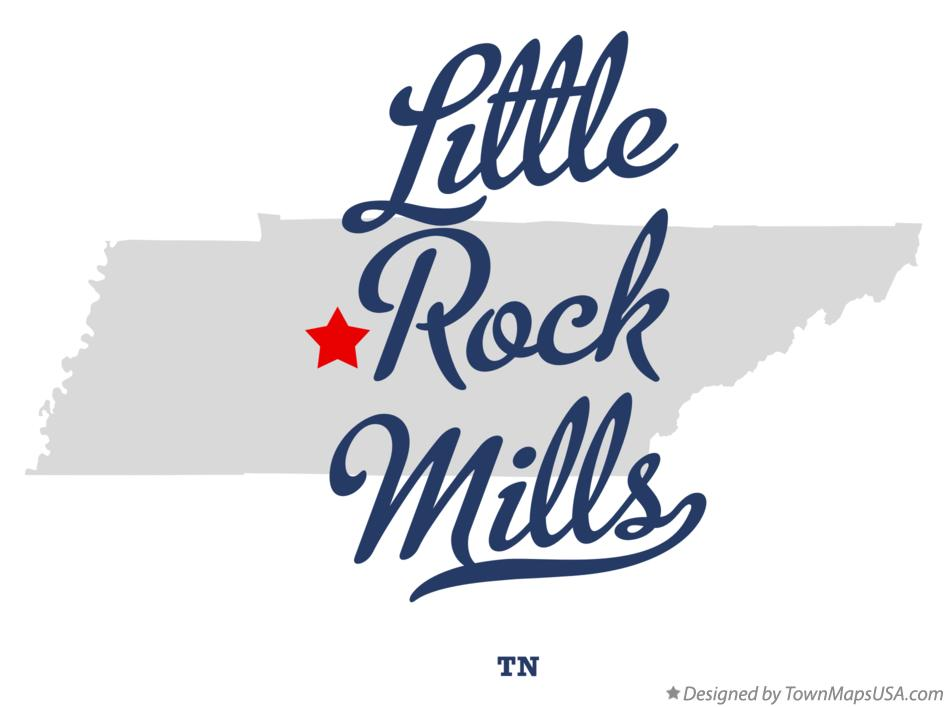 Map of Little Rock Mills Tennessee TN