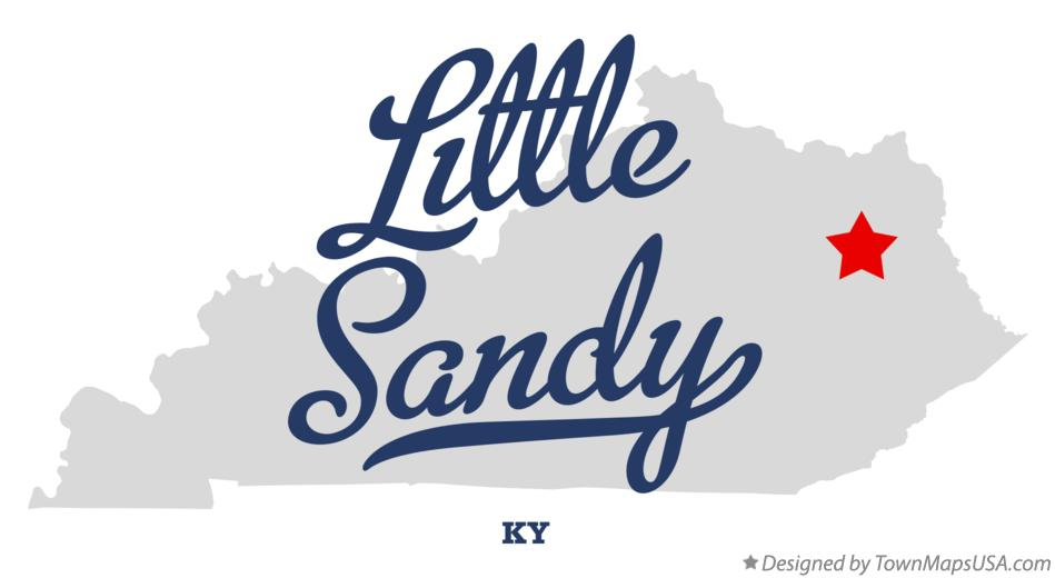 Map of Little Sandy Kentucky KY