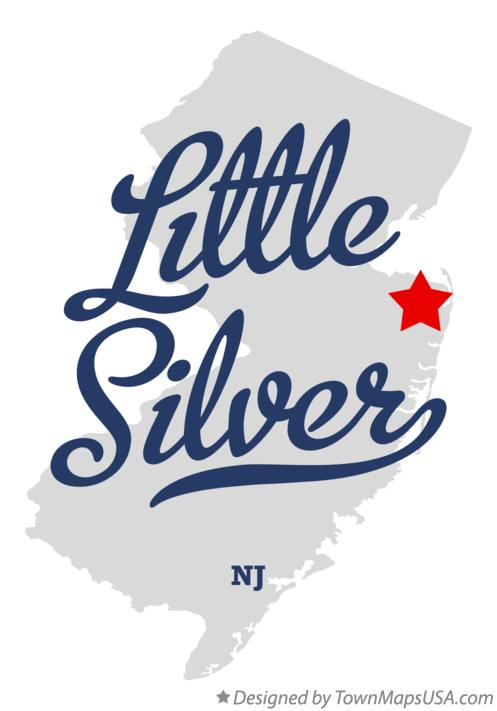 Map of Little Silver New Jersey NJ