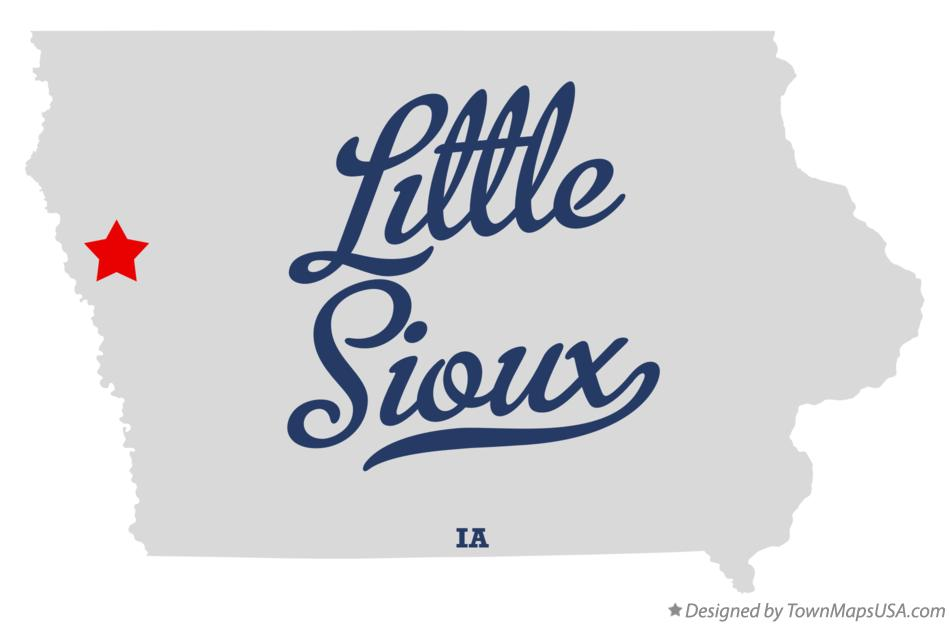 Map of Little Sioux Iowa IA