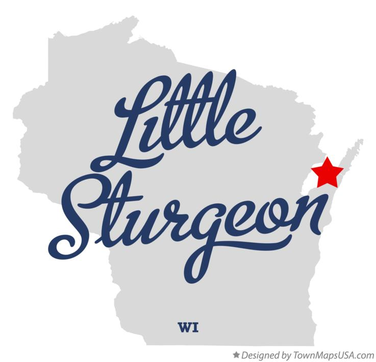 Map of Little Sturgeon Wisconsin WI