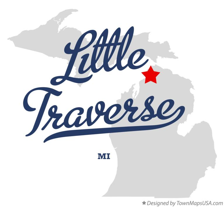 Map of Little Traverse Michigan MI