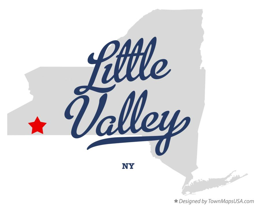 Map of Little Valley New York NY