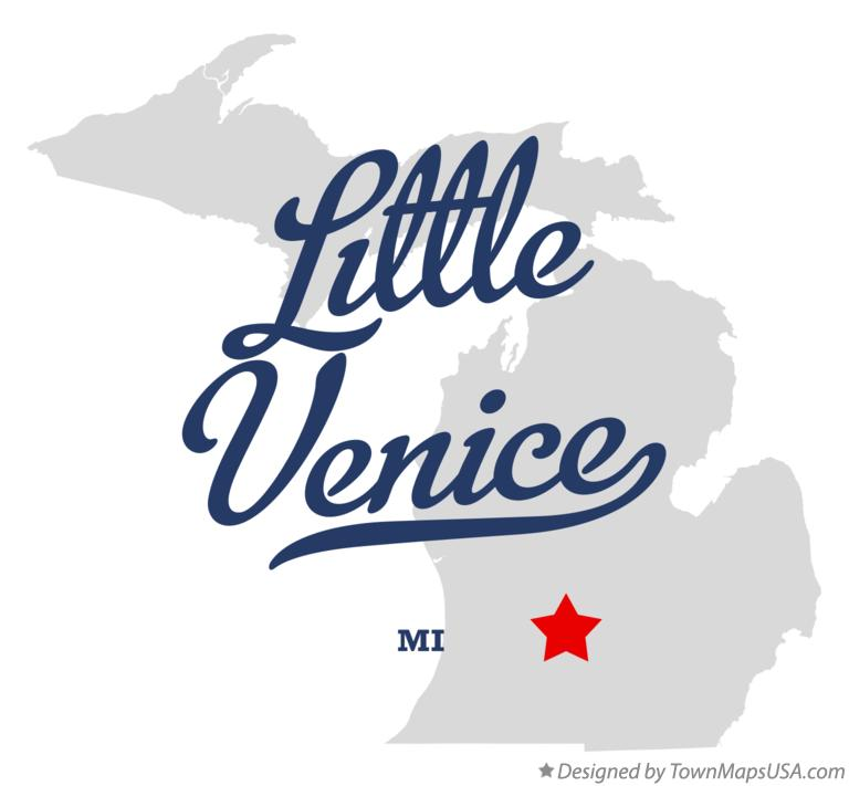 Map Of Little Venice MI Michigan - Little venice map