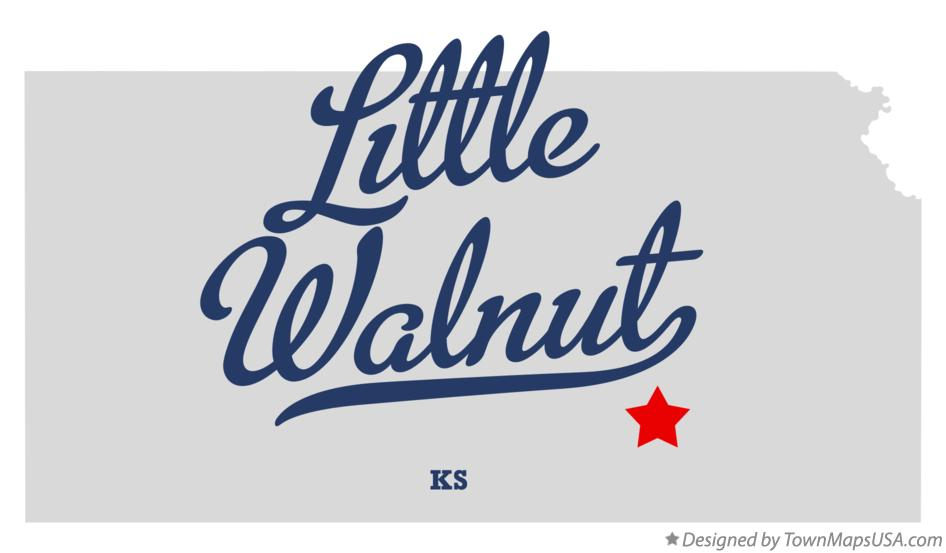 Map of Little Walnut Kansas KS
